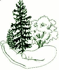 Forest Savers Logo (hand holding trees)